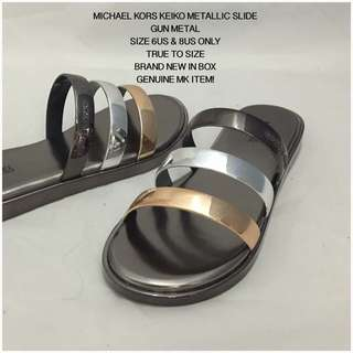 Michael Kors Keiko Metallic Slide