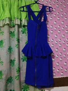Blue dress cross back