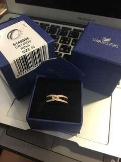 🚚 Swarovski LIFELONG WIDE 戒指, 白色, 鍍玫瑰金色
