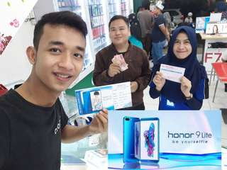 Honor 9 Lite Open PO Cash and Credit 3 Menit