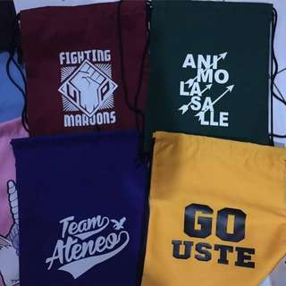 Customized Drawstring String Bags - Any color na available and design of your choice