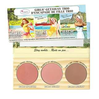 theBalm Cosmetics Girls Getaway Trio Long-Wearing Bronzer/Blush