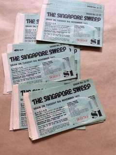 1977年新加坡大彩票 (88张 )