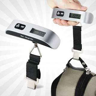 Portable Handheld Travel LCD Digital Luggage Scale Strap 50kg with Battery