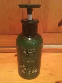 Innisfree 330ml soft green body lotion