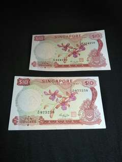 Sg old $10 notes 2pc x $35