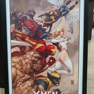 X-Men Poster (Signed by artist Giuseppe Camuncoli)