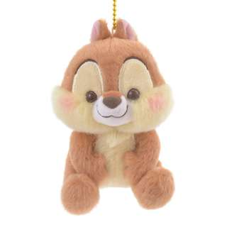 Japan Disneystore Disney Store Chip PASTEL STYLE Keychain with Stuffed Plush Doll Toy
