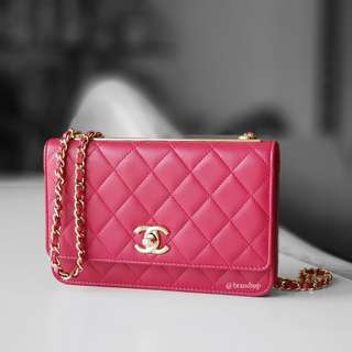 Authentic Chanel Trendy CC Wallet On Chain WOC