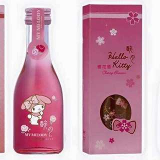 FREE POS ♡ Hello Kitty Bottle My Melody Wine Sakura Rose