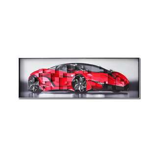 Red Lamborghini Framed