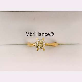 Natural diamond engagement ring 18k solid gold engagement / Wedding ring by Mbrilliance