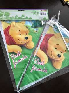 Birthday Bunting Pooh Bear