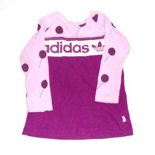 Charity Sale! Authentic Adidas Baby Girl Long Sleeve Shirt Size 12 Months Lollipop Style