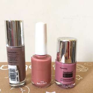 Nail polish set impor (3 colors)