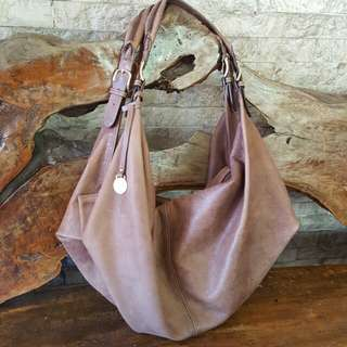 Authentic Calf Leather Rabeanco Slouchy Hobo