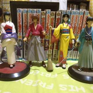 Rurouni Kenshin Figure set and Manga Bundle