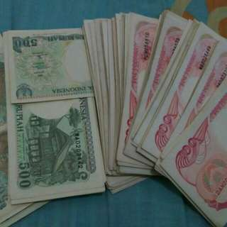 Uang kertas 100 sm uang kertas 500