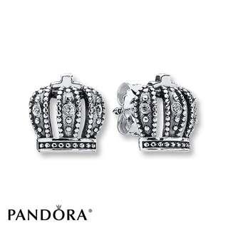 Pandora Crown Earrings