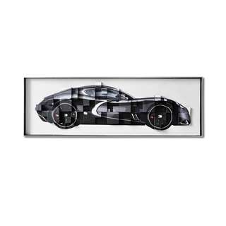 Black Dodge Viper Framed 3D Art Canvas