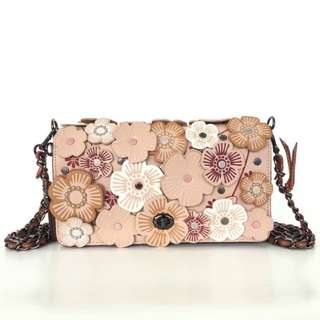 Coach dinky crossbody with tea rose