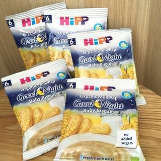 BN New Hipp Organic Milk Pap Baby Biscuit Cereal Just Add Water