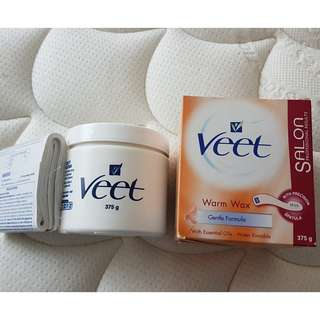 VEET salon warm wax (water rinsable)