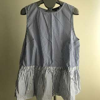 J Crew Sleeveless Top - Stripes