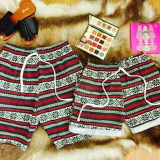 Couple short printed