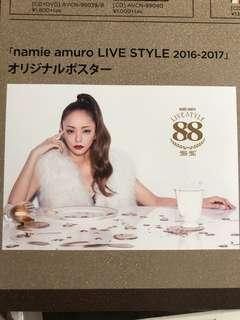安室奈美惠 Namie Amuro live style 2016-2017 B2 poster
