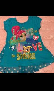 Shimmer and shine TOP Brand New Size 3yrs to 7yrs old
