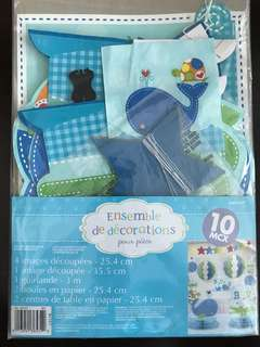 Baby Boy Whales Table Decoration