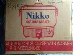 Nikko Gas Rice Cooker with warmer