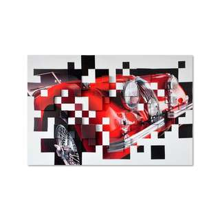 Red Classic Convertible 3D Art Canvas