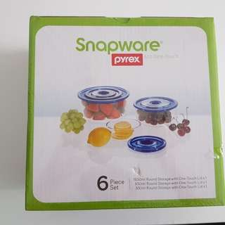 Snapware Pyrex Eco One-Touch Air-Tight Containers