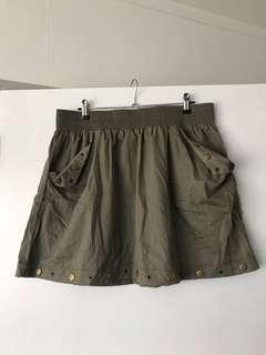 Camo green skirt