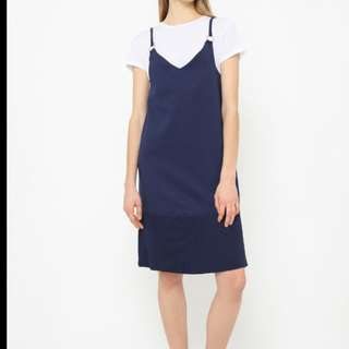 New with tag Navy Pleated Dress