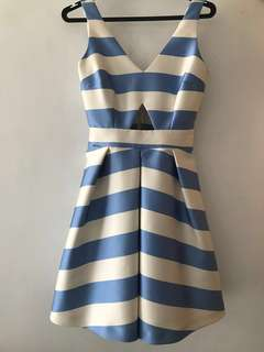 Topshop striped flare party dress