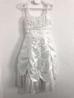Girl White dress for wedding or flower girl