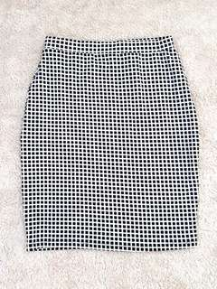 👗Black&White Pencil Skirt