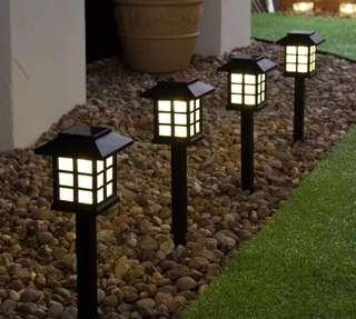 2pcs Outdoor Solar Power LED Light Path Way Landscape Garden Fence Lamp