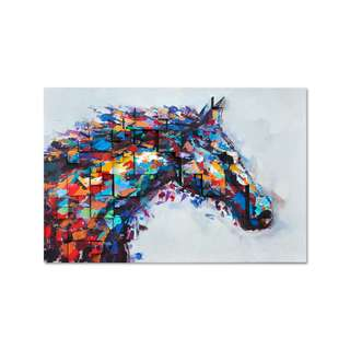 Horse Colorful 3D Art Canvas