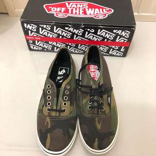 Vans Camo Military Olive Shoes