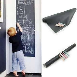 BLACK/WHITEBOARD STICKER 45*200CM N00702