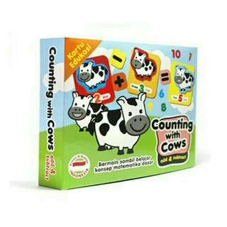 Mainan Edukasi Puzzlo Counting With Cow