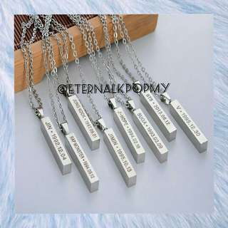 BTS/MEMBERS PENDANT NECKLACE