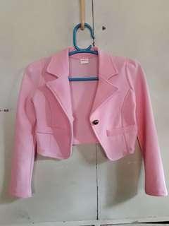 Pink Mid Button Blazer