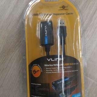 美國 VANTEC VLINK 5米長 USB 3.0 延長線,高質素。