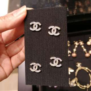 Authentic Chanel Classic CC Earrings