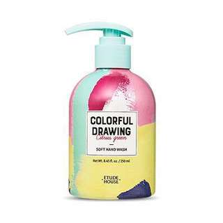 Etude house colourful drawing soft hand wash
